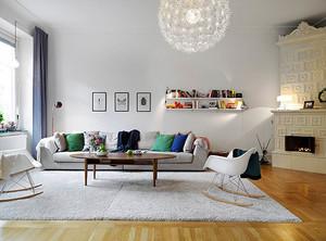 北欧风格朴素白色一居室小户型装修效果图案例