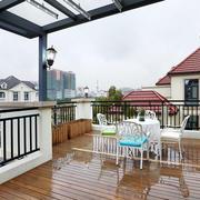 现代风格别墅休闲阳台设计装修效果图赏析