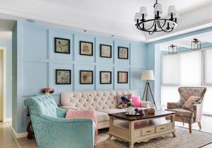 简欧风格清新客厅照片墙装修效果图赏析