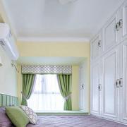 20平米简欧风格卧室整体衣柜设计装修效果图