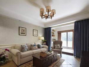 99平米简约美式风格精致两室两厅室内装修效果图鉴赏