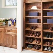 美式乡村风格精致玄关鞋柜设计装修效果图