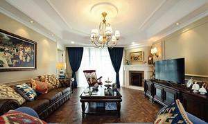 112平米欧式风格古典雅致两室两厅室内装修效果图案例