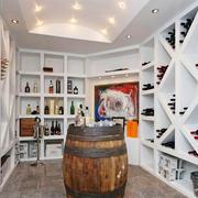 现代简约风格别墅精致白色酒柜设计装修效果图赏析