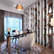 16平米现代风格书房设计装修效果图赏析