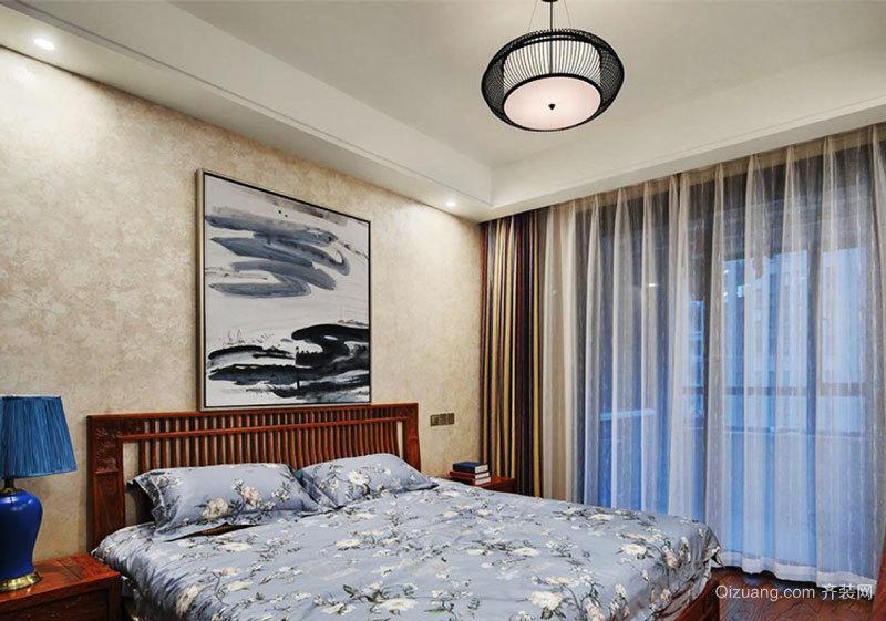 新中式风格简约朴素卧室装修效果图赏析