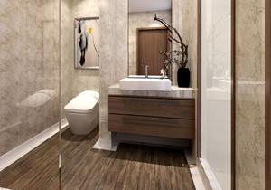 新中式风格简约卫生间隔断设计装修效果图赏析