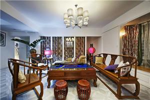 120平米中式风格古典雅致室内装修效果图案例