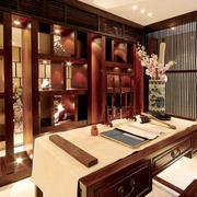 中式风格古典书房博古架装修效果图赏析