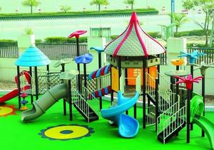 现代简约幼儿园游乐场装修效果图