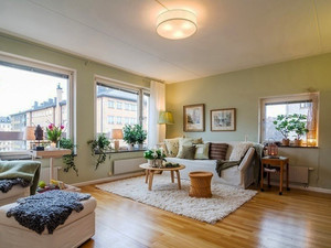 75平米北欧风格简约两室一厅室内装修效果图案例