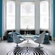 地中海风格蓝色精致阳台飘窗设计装修效果图