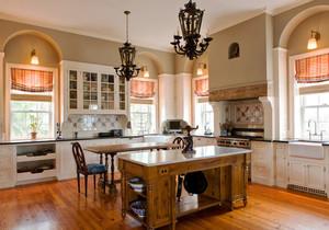 美式风格别墅室内精美厨房装修效果图欣赏