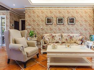 94平米欧式田园风格精致婚房设计装修效果图赏析