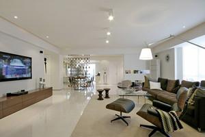 106平米现代简约风格三室两厅室内装修效果图赏析