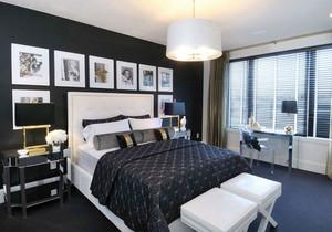 现代简约风格黑白色卧室装修效果图赏析