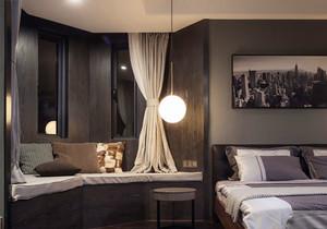 现代风格大户型主卧室飘窗设计装修效果图赏析