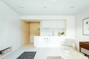 现代简约风格精装修一居室小户型装修效果图鉴赏