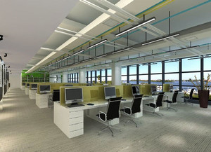 140平米现代风格办公室装修效果图赏析