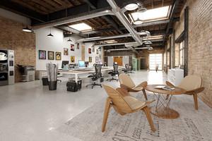 后现代工业风办公室装修效果图赏析