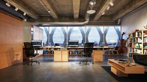 100平米后现代风格办公室装修效果图