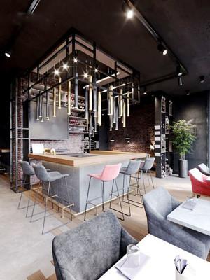 后现代风格咖啡厅设计装修效果图