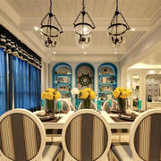 地中海风格别墅室内精美餐厅设计装修效果图