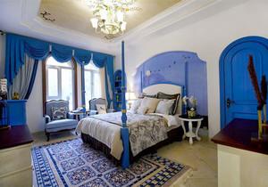 地中海风格别墅室内精美卧室装修效果图