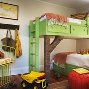 现代简约风格多彩时尚儿童房设计装修效果图