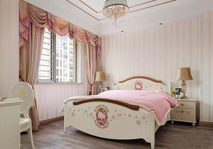简欧风格温馨梦幻粉色儿童房设计装修效果图