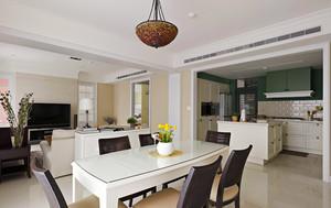 126平米简约美式风格精装三室两厅装修效果图鉴赏