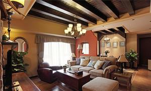 224平米美式混搭风格别墅室内装修效果图案例