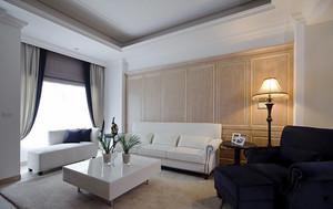 139平米美式风格精致三室两厅室内装修效果图案例
