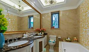 147平米欧式风格淡雅精致两室两厅室内装修效果图