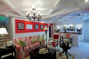 欧式田园风格精致别墅室内装修效果图实例