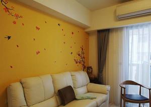 74平米现代简约风格两室两厅室内装修效果图赏析