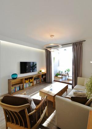 87平米宜家风格文艺清新三室两厅室内装修效果图