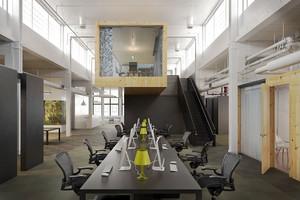 现代工业风格办公室装修效果图赏析