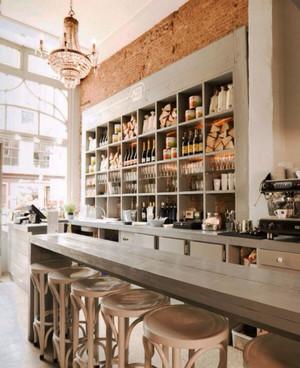 复古乡村风格酒吧吧台设计装修效果图