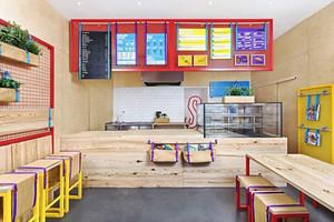 32平米现代简约风格奶茶店装修效果图