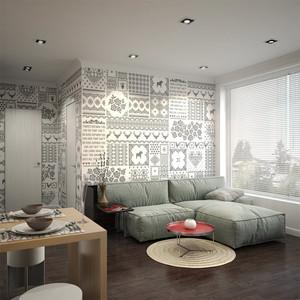 49平米现代简约风格小型单身公寓装修效果图