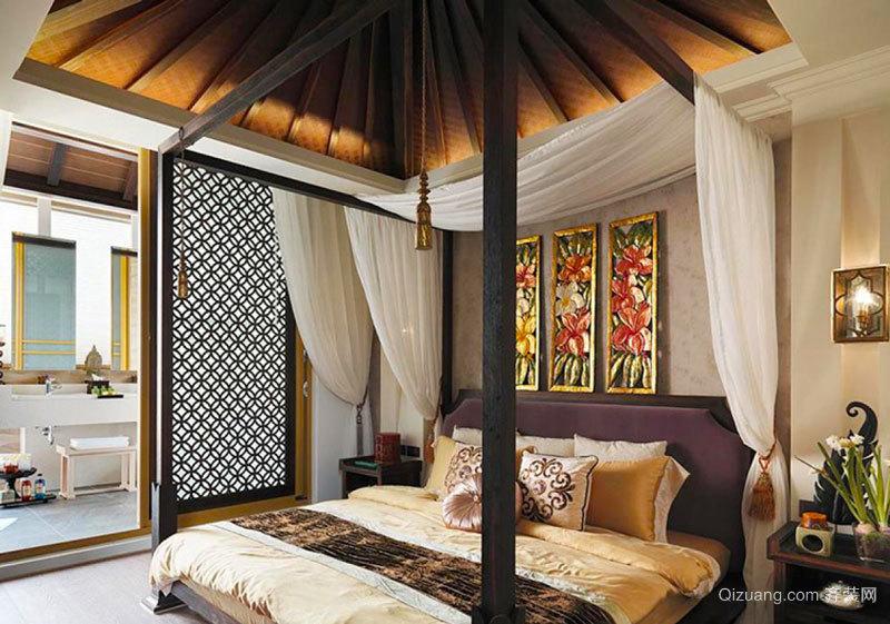 东南亚风格别墅室内卧室装修效果图欣赏