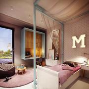 北欧风格温馨粉色儿童房设计装修效果图