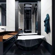 后现代风格大户型黑色系卫生间装修效果图