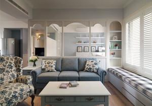简欧风格温馨客厅飘窗设计装修效果图赏析