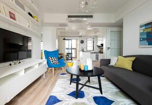 89平米简约风格三室两厅室内装修效果图案例