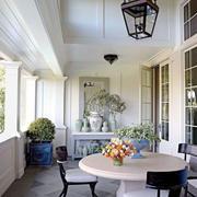 美式风格别墅休闲阳台设计装修效果图赏析