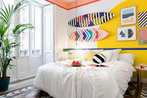 北欧风格时尚靓丽卧室背景墙装修效果图赏析