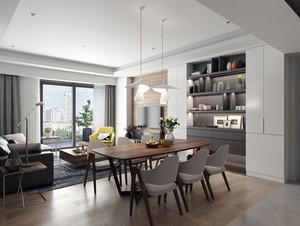 现代简约风格两居室餐厅装修效果图欣赏