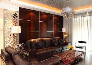 新古典主义风格客厅背景墙装修实景图赏析